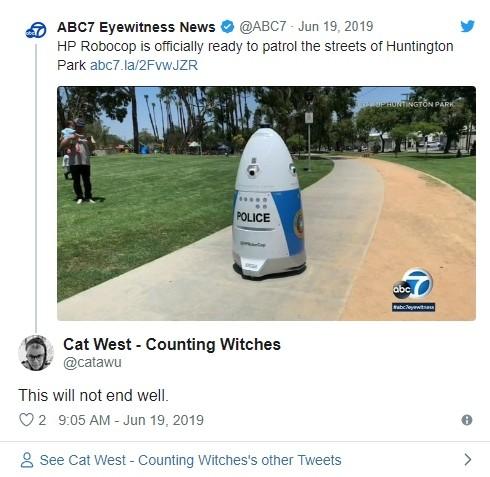 пользователи встретили механического полицейского робокопа со смешанной реакцией