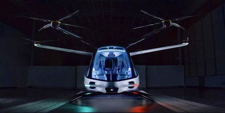 Полноразмерный макет летающего автомобиля Skai