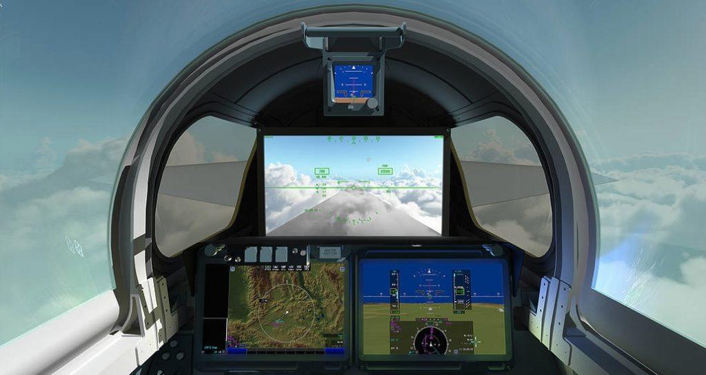 4к дисплей в кабине пилота сверхзвукового самолета