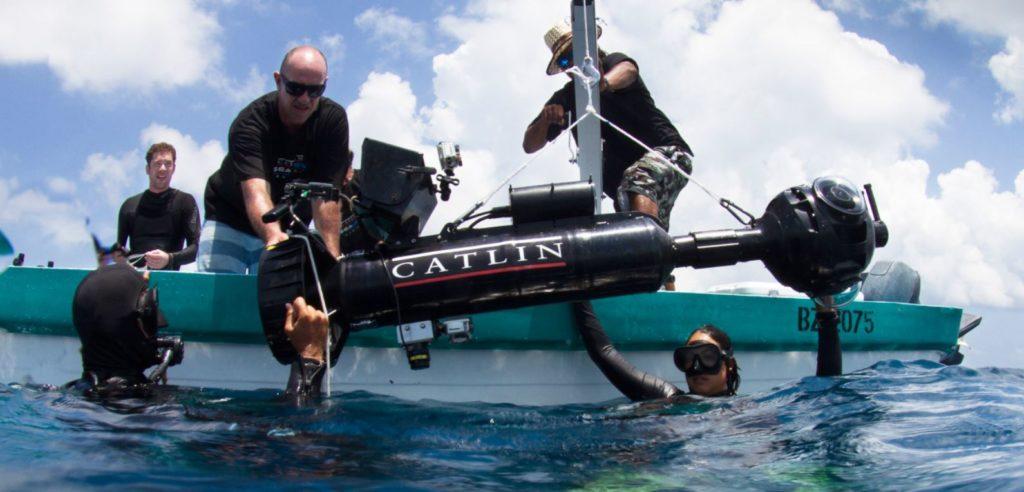 Подводные сьемки команды google