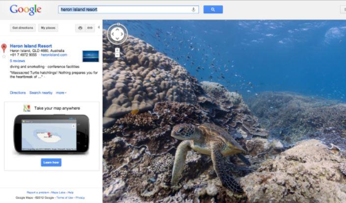 новый сервис гугл карт - подводные карты