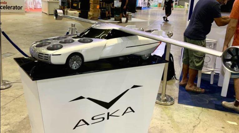 макет летающего электромобиля