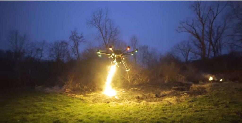 беспилотный огнемет дрон