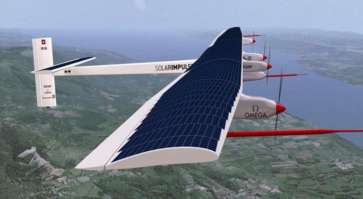 Электрический самолет Swiss Solar Impulse 2