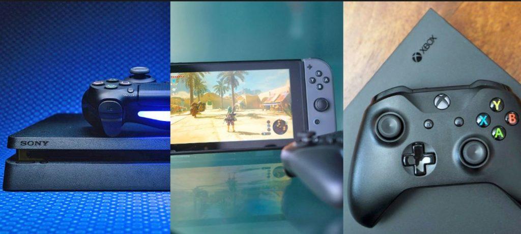 основые игроки на рынке игровых консолей Майкрософт, Сони и Нинтендо