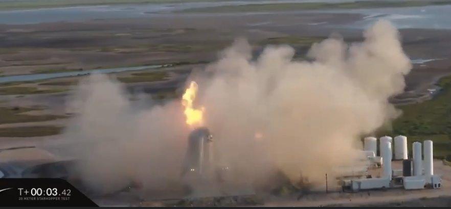 Марсолет Илона Маска сгорел во время испытаний