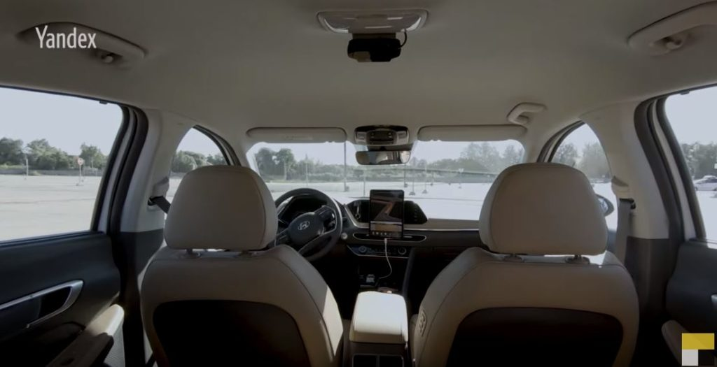 беспилотный автомобиль яндекс на полигоне